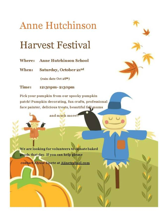 Anne Hutchinson harvest festival